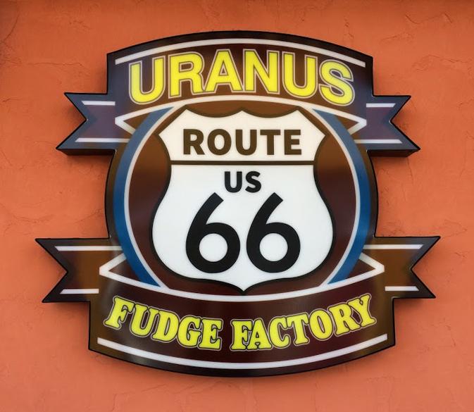 Uranus Missouri Route 66 Fudge Factory SIgn